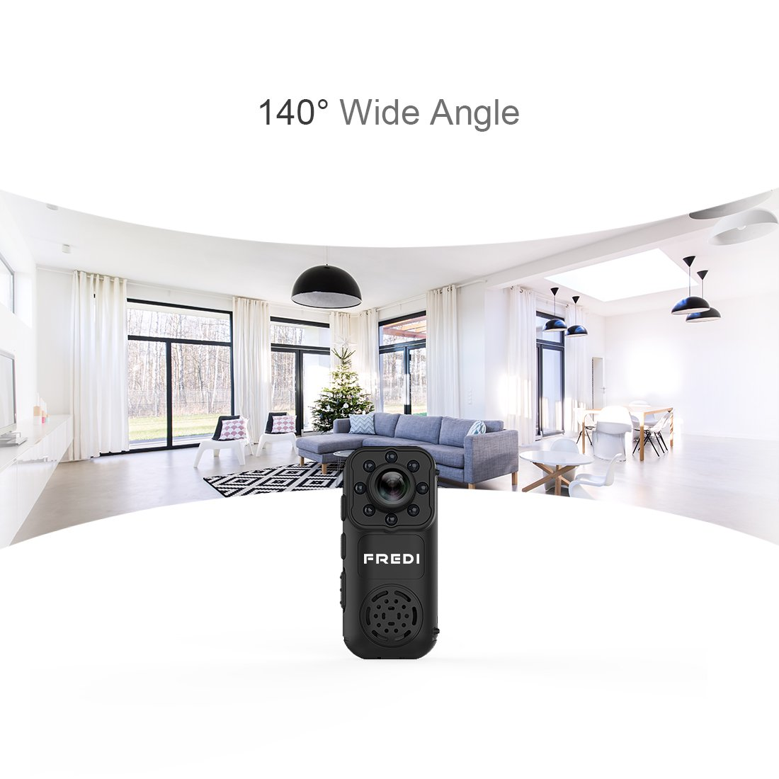 Hidden Camera, FREDI 1080P HD Wifi Spy Mini Portable Ip Indoor WiFi Security Small Surveillance Camera with Motion Detection(support 128G SD card)