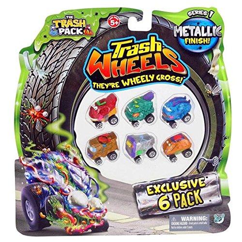 the-trash-pack-trash-wheels-metallic-finish-donutz-brush-buggy-road-roach-scum-van-cable-car-pooper-