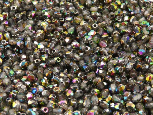 100 pcs Czech Fire-Polished Faceted Glass Beads Round 3mm Crystal Vitrail (Fire Polished Beads compare prices)