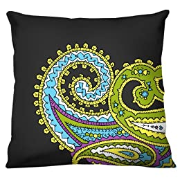 "Product Image 100% Thai Silk Decorative Pillow - Paisley Gray (18x18"")"