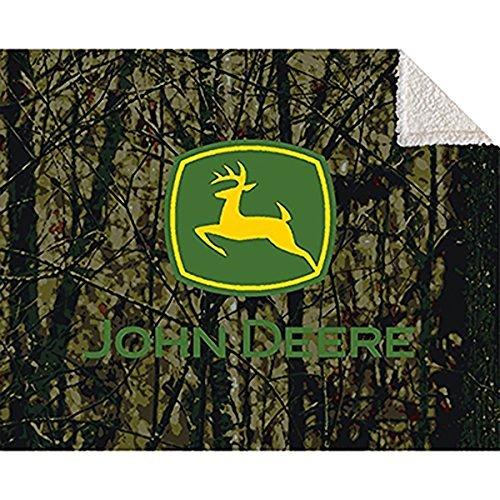 John Deere Signature Camo Sherpa Blanket