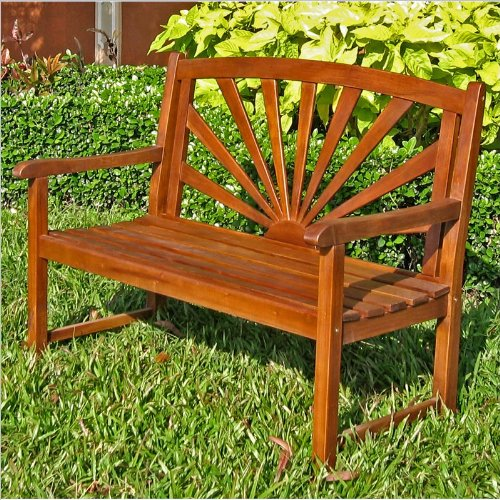 International Caravan International Caravan Sapporo Bench, Medium Wood, Wood