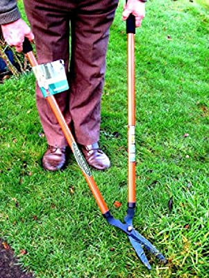 Long Handle Lawn Shears. Angle Clipping Grass with Straight Blade. Garden Tools.