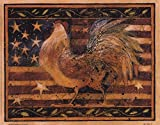 Old Glory Rooster by Susan Winget Wall Picture, Size 10 x 8 inches