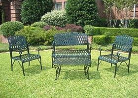 Terrific Buy 4Pc Outdoor Diamond Lattice Outdoor Iron Settee Patio Customarchery Wood Chair Design Ideas Customarcherynet