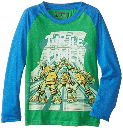 Teenage Mutant Ninja Turtles Big Boys' TMNT Turtle Power Long Sleeve Raglan