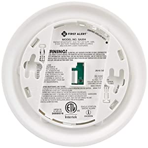 First Alert FAT1039800 Ionization Smoke Alarm with Escape Light