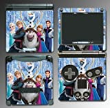 Frozen Princess Anna Elsa Sven Olaf Movie Video Game Vinyl Decal Cover Skin Protector for Nintendo GBA SP Gameboy Advance Game Boy
