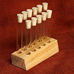 Empty test tube block and 11 test tubes great for spices for Test tubes for crafts