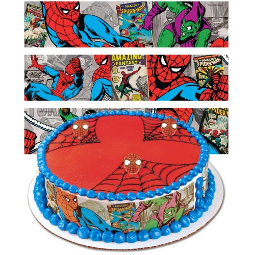 Spiderman Designer Prints Cake Edible Image
