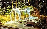 LeaningTech  3.5m バブルテント シングルトンネル  全透明 現代アート スケルトン 音遮断 キャンプ 透明な球体 アウトドアライフ おしゃれ