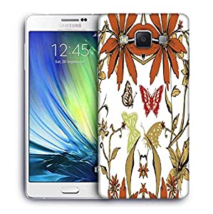 Snoogg Orange Flower Printed Protective Phone Back Case Cover For Samsung Galaxy A7