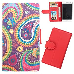 DooDa - For Sony Xperia Z2 PU Leather Designer Fashionable Fancy Wallet Flip Case Cover Pouch With Card, ID & Cash Slots And Smooth Inner Velvet With Strong Magnetic Lock