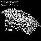 New Czech Rhinestone Imitation Gemstone Bridal Hair Combs Tiara Hair Accessories Wedding Hair Jewelry Hot Selling