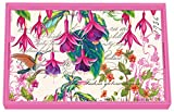 Michel Design Works Wooden Decoupage Vanity Tray, 12.25 x 7.5-Inch, Fuchsia