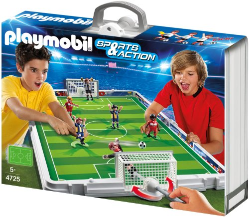 playmobil gro e fu ball arena im klappkoffer 4725 preisvergleich fu ball arena g nstig. Black Bedroom Furniture Sets. Home Design Ideas