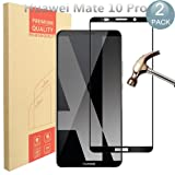 [2 Pack] Huawei Mate 10 Pro Screen Protector, PULEN 0.3MM Slim And 9H Hardness Tempered Glass [Anti-Scratch] [Bubble Free] Extreme Hardness with Lifetime Replacement Warranty (Black)