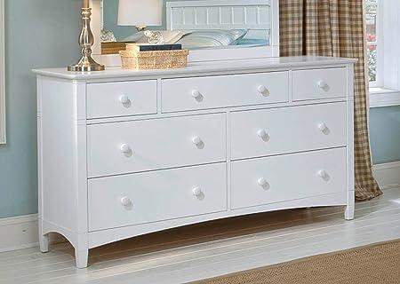 Essex 7-Drawer Dresser in White Finish