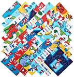 Robert Kaufman DR. SEUSS Precut 5-inch Cotton Fabric Quilting Squares Charm Pack Assortment Dr Seuss