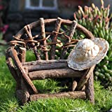 Lawn &amp; Patio - Miniature Fairy Garden Vine Twig Bench
