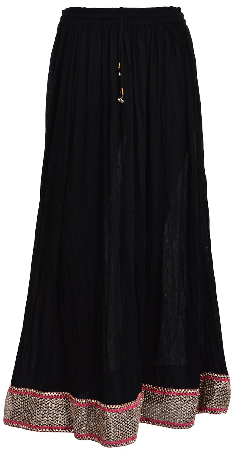 Madhu Art Women's Rayon Cotton Full Length Skirt