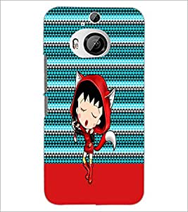 PrintDhaba Cartoon D-4748 Back Case Cover for HTC ONE M9 PLUS (Multi-Coloured)