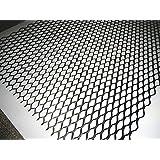 高品質!厚みあり!アルミ製ハニカムメッシュネット100cm×33cm黒/グリル加工/エアロ/六角 網