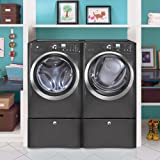 Electrolux TITANIUM Steam Front Load ELECTRIC Laundry Set W/Pedestals EWFLS60LT-EIMED60LT-EPWD15T