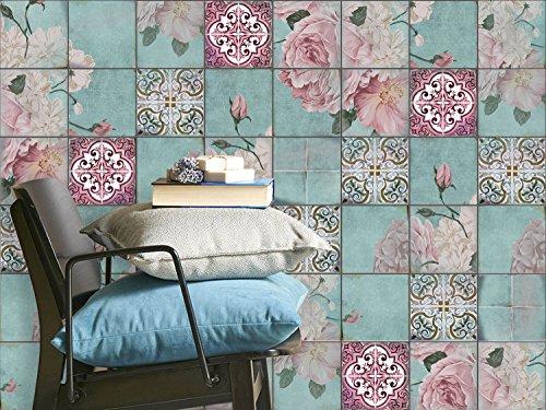 Fliesen dekorativ deko fliesenaufkleber badezimmerfolie for Dekorfolie bad