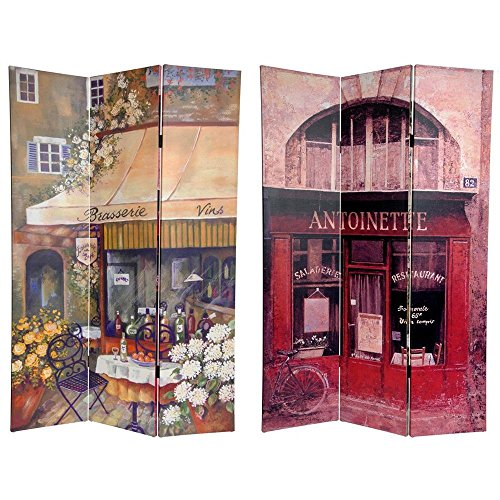 Oriental Furniture 6 ft. Tall Double Sided Brasserie Canvas Room Divider