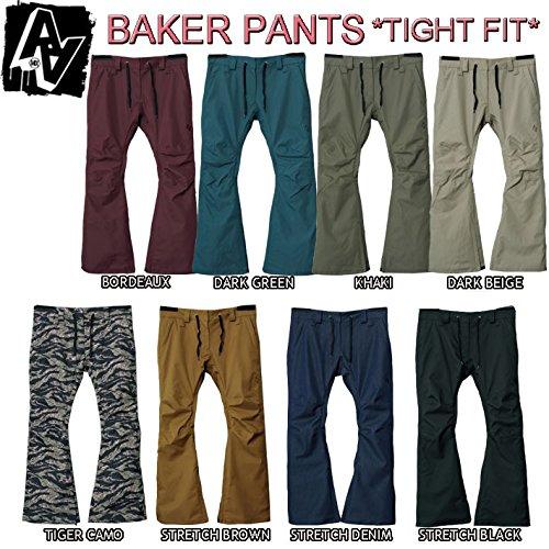 15-16 AA HARDWEAR スノーボードウェア BAKER PANTS レディース  ベーカーパンツ (STRETCH_BLACK, M)