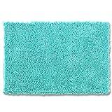 オカ バスマット 乾度良好 カリスマネクスト 吸水 抗菌 防臭 ターコイズブルー 約45×65cm