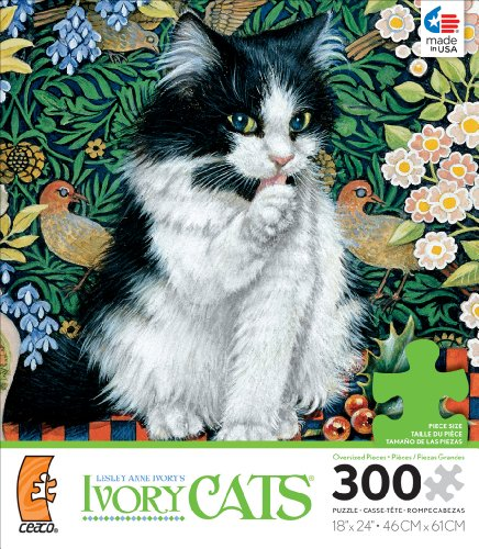 Ceaco Lesley Anne Ivory Cats Angel's Tapestry Jigsaw Puzzle