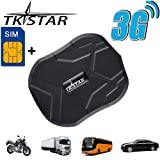 TKSTAR GPS Tracker,3G Real Time Tracking Car GPS Tracker for Vehiches, Waterproof Strong Magnet Tracking device Anti-Lost for Car Motorcycle Truck Alarm TK905(Free SIM). (Color: 905 3G)