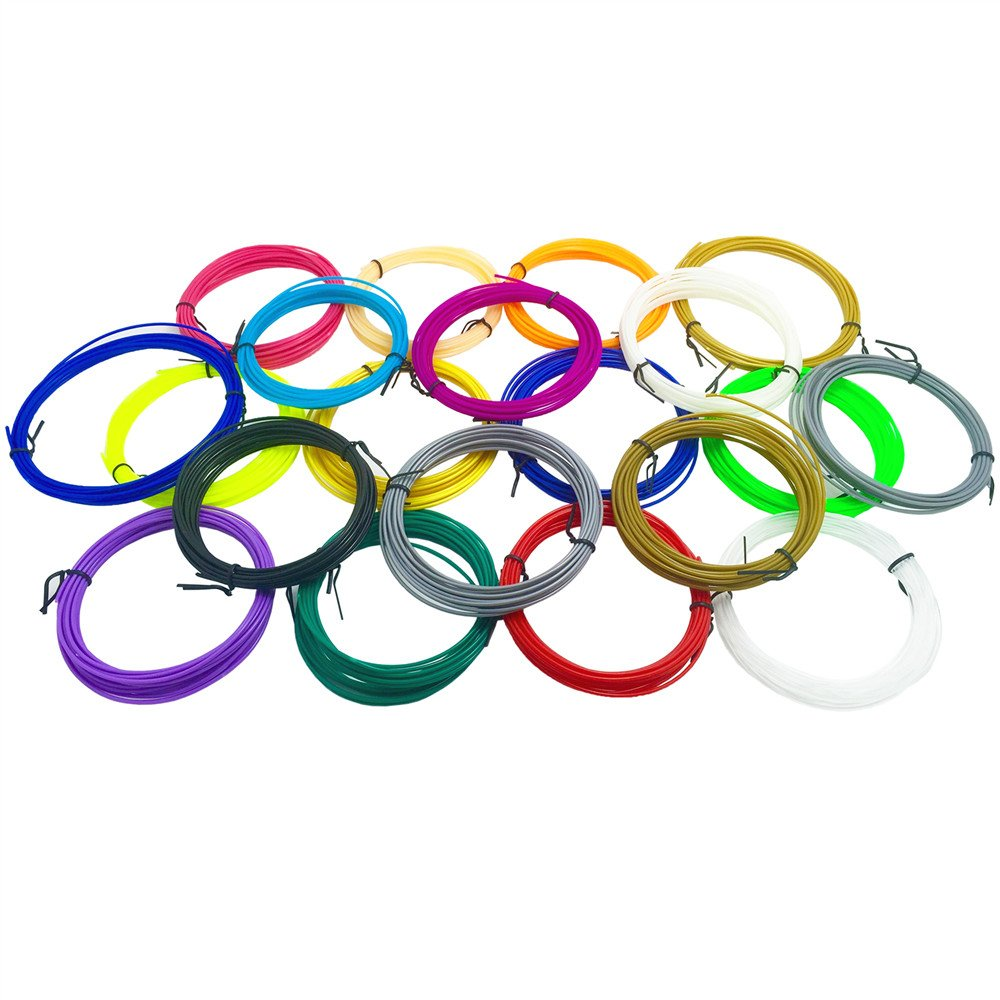 Samto 3D Pen ABS 1.75mm Fun Sampler Pack Quality Filament - 20 Foot Each of 20 Different Colors