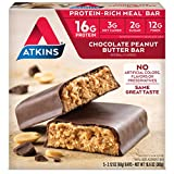 Atkins Protein-Rich Meal Bar, Chocolate Peanut Butter, 5 Count