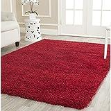 Safavieh California Shag Collection SG151-4040 Red Area Rug, 8 feet by 10 feet (8' x 10')