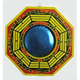 Eshoppee Fengshui Bagua Pakua Pakwa Mirror For Protection And Remove Outside Negetive Energy (16X16X1) Showpiece - 16 Cm (Wooden, Multicolor)