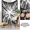 """Exclusive Psychedelic Forest Tapestry By """"The Boho Street"""", Beautiful Indian Wall Art, Perfect Valentine Gift, Hippie Wall Hanging, Bohemian Bedspread"""