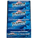 Trident Xtra Care Gum, Peppermint, 14-Piece Packs (Pack of 12)