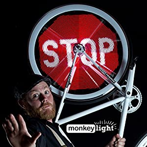 Monkey Light Pro - Programmable Bike Wheel Display System - Display Your Own Images and Animation