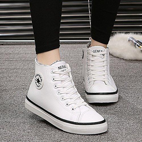 GGH Signore lavoro confortevole slittamento sui fannulloni delle donne scarpe casual White / Black,40