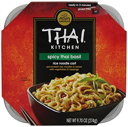 Thai Kitchen Spicy Thai Basil Rice Noodle Cart, 9.7-Ounce (Pack Of 6)