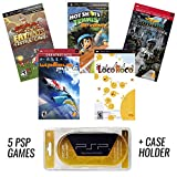 PSP MEGA 5 Game Bundle with UMD Case Holder