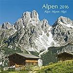 Alpen 2016: Brosch�renkalender mit Fe...