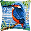 <b>Kingfisher Cross Stitch Cushion Kit</b> Contains Everything You Need To Complete Your 40 x 40cm Cushion Front