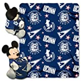 NCAA Connecticut Huskies 40x50-Inch Throw with 14-Inch Hugger