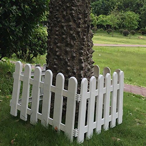 hineway-nursery-garden-fence-christmas-tree-decor-wall-border-picket-fences-white-pvc-fences-19x11in