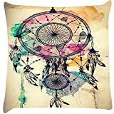 Snoogg Dream catcher colourful Digitally Printed Cushion Cover throw pillows 12 x 12 Inch