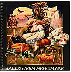 3dRose db_6038_1 Vintage Halloween Nightmare Drawing Book, 8 by 8-Inch